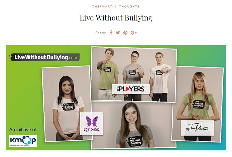 The F Martini για το Live Without Bullying